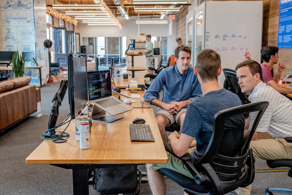Young Men in a Modern Office
