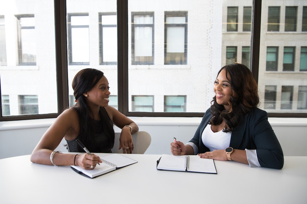 Two African American Women in a Meeting