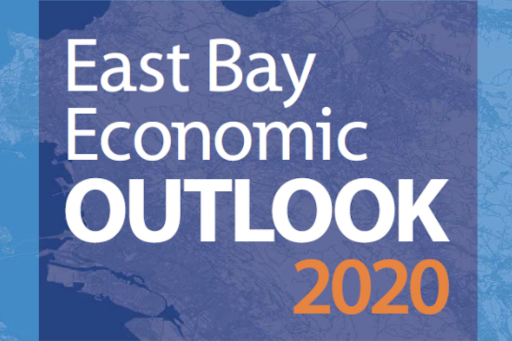Cover image of the words East Bay Economic Outlook 2020